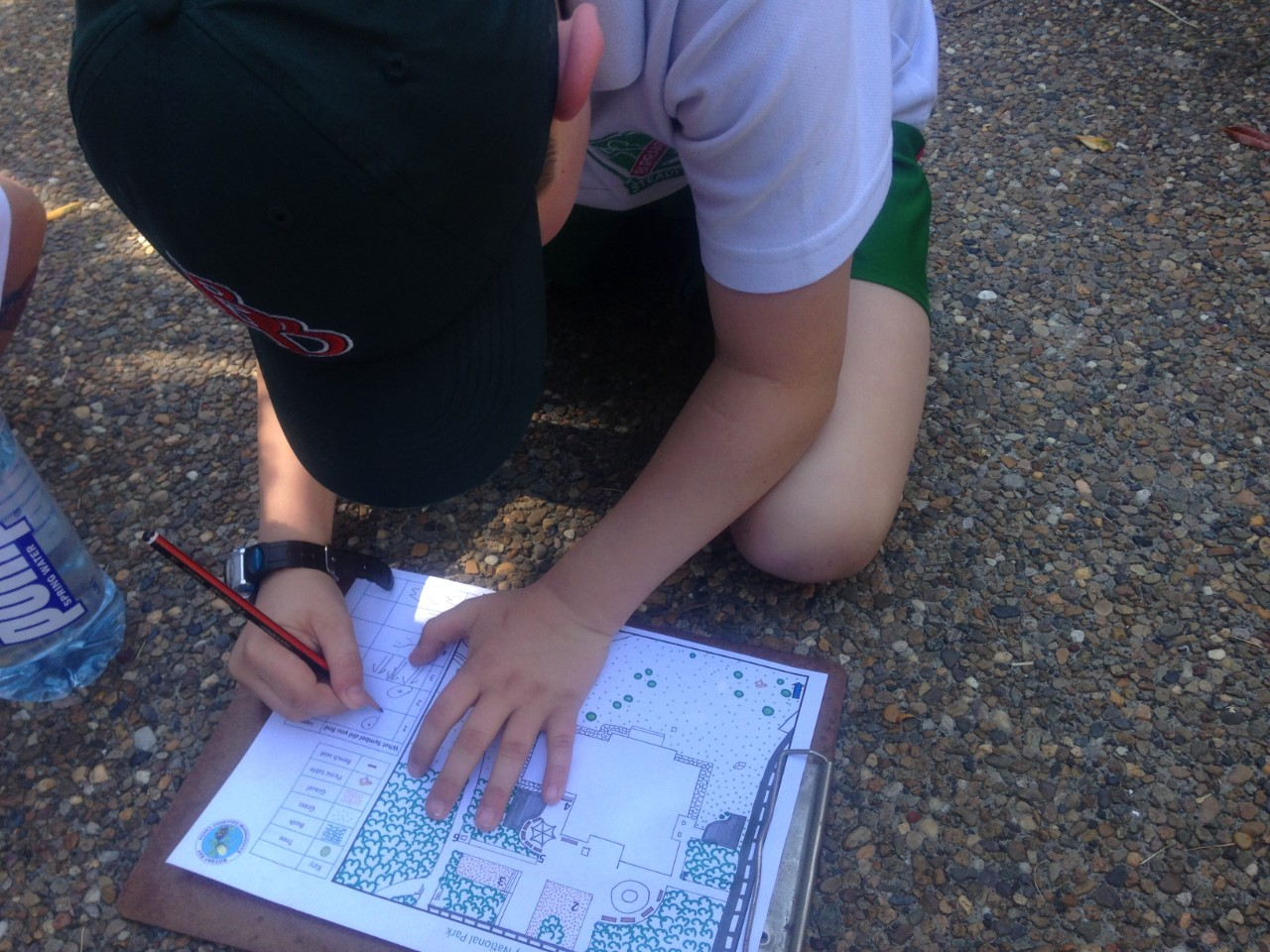 students use a map
