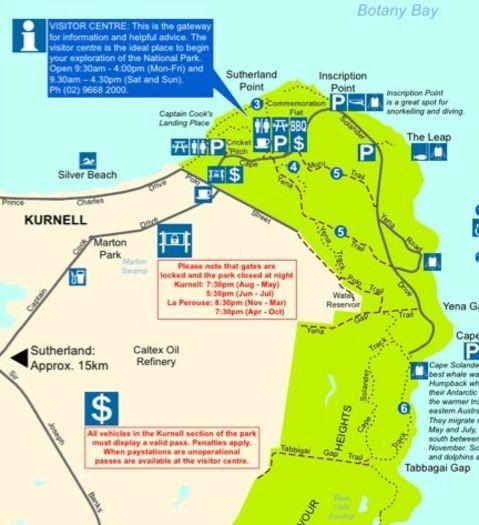 Kamay Botay Bay map