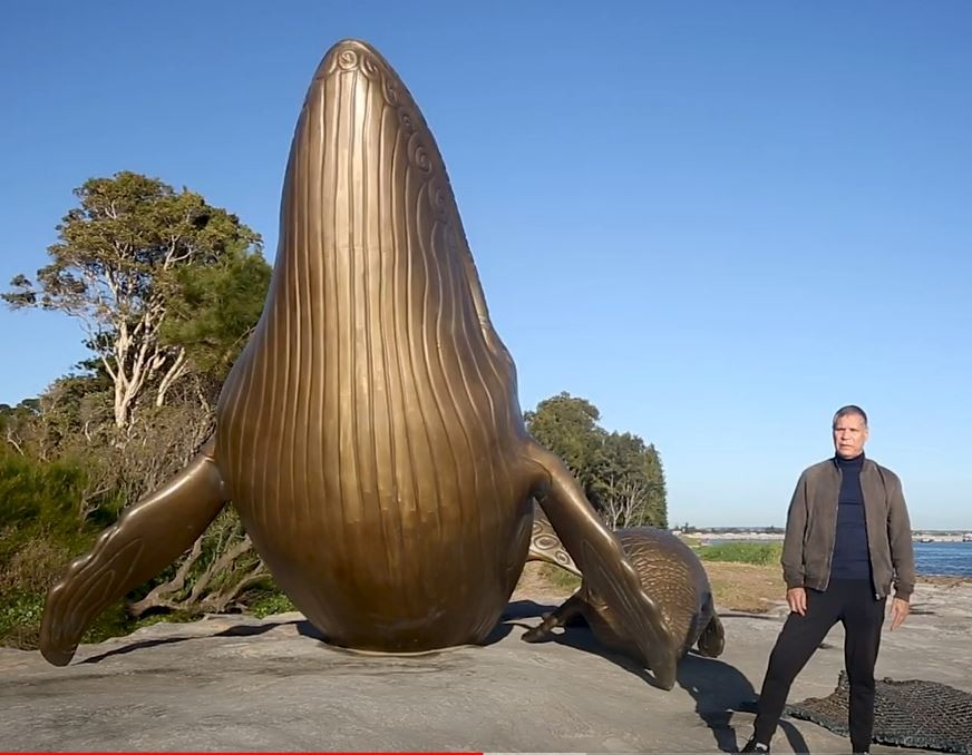 sculpture of a whale at Kurnell